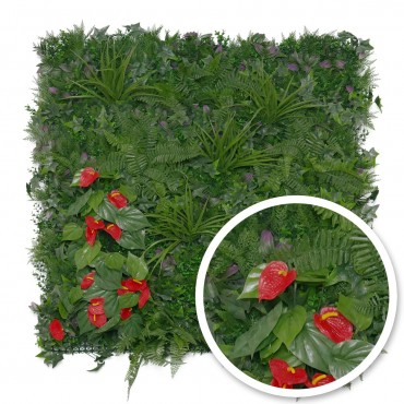 Mur végétal synthétique Tropical